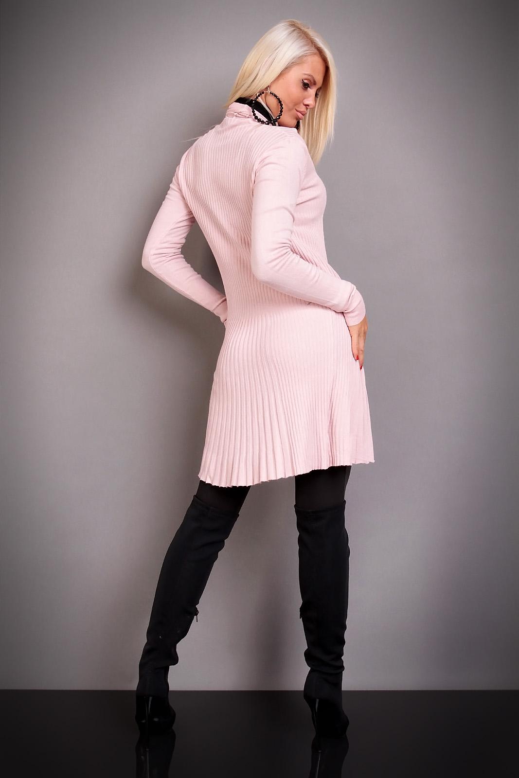 rosa lång kofta